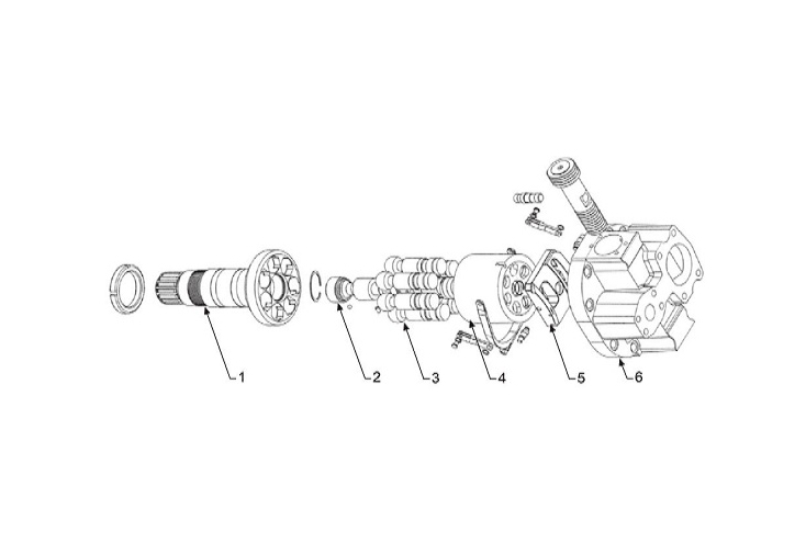 Hitachi HPV135 Serisi Hidrolik Pompa
